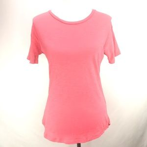 Madewell Cotton Coral Red T-shirt Top Size XS